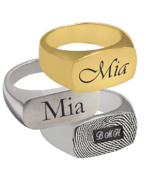 Personalized Rectangle Ring