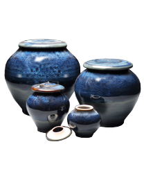 Blue Galaxy Porcelain Cremation Urn