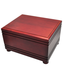 Cherry Finished Grooved Horizontal Wood Urn