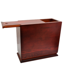 Cherry Finish Slide Top Wood Urn