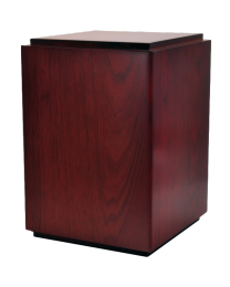 Classic Cherry Finish Wood Urn