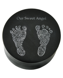 Black Marble Baby Keepsake Urn