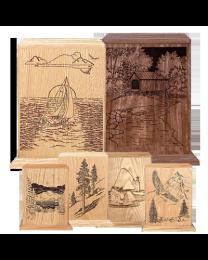 Theme Vertical Hardwood Urn