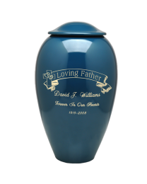 Engraved Banner Premium Brass Cremation Urn