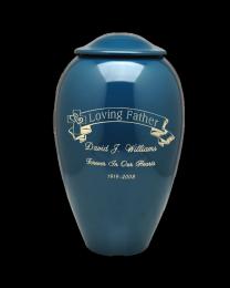 Engraved Banner Premium Brass Cremation Urn