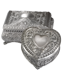 Monogrammable Pewter Keepsake Box