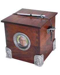 Cherry Wood with Pewter Hardware & Photo Frame