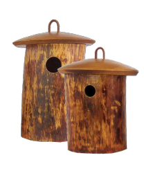 Natural Wood Birdhouse Urn