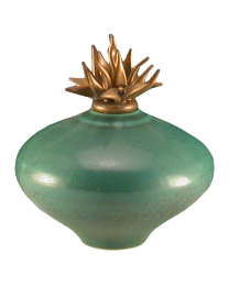 Smooth Jade Ceramic Cremation Urn