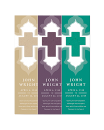 samples of memorial bookmarks with seed shape