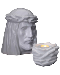 The Holy Mother ceramic urn in adult and keepsake sizes