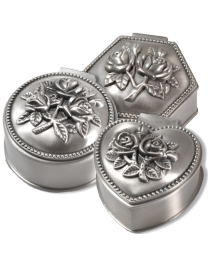 Pewter Roses Momento Jewelry Box
