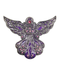 Angel in Purple Keepsake Box