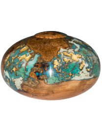 cherry burl wood funeral urn