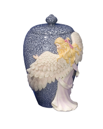 Embraced by an Angel Hand-painted Urn