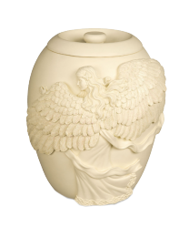 Angel's Embrace Ivory Urn