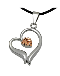 Stainless Steel Rose Heart