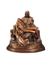 Pieta Bronze Sculpture Urn