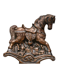 Rocking Horse Bronze Sculpture Urn