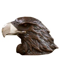 Bronze Eagle Head Keepsake Urn