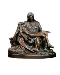 Pieta Bronze Urn Keepsake