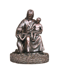 Jesus and Children Sculpture Urn