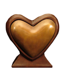 Heart to Heart Bronze Sculpture Companion Urn