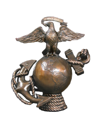 Semper Fidelis Bronze Military Sculpture Urn