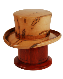Derby Hat Maple Wooden Urn