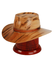 Outback Hat Maple Wood Urn