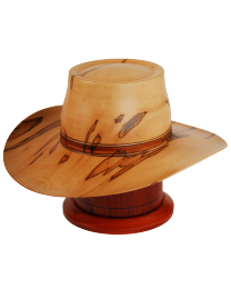 Western Hat Maple Wood Urn
