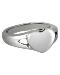 Stainless Steel Simple Heart Ring
