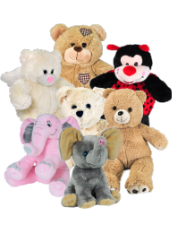 Stuffed Animal Baby Urn With Recordable Message Option