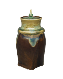 Brown Crystalline Sharing Urn