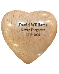 Wooden Heart Keepsake Urn