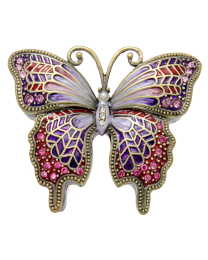 Whimsical Butterfly Cremation Keepsake Jeweled Box