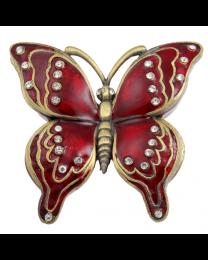 Red Butterfly Keepsake Jewelry Box