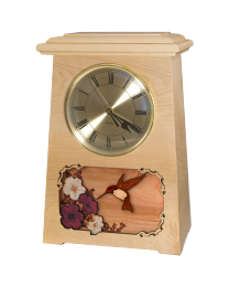 wooden clock urn with elk