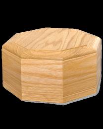 Octagon Wood Urn