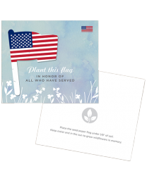 Patriotic Seed Paper Memorial Cards + Envelopes