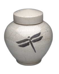 Dragonfly Artisan Pottery Urn