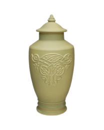 Celtic Dragon Porcelain Urn