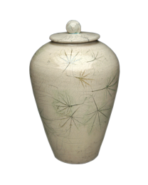 Poetic Maple Leaves Ceramic Urn