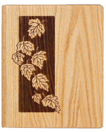 Falling Leaves Wooden Memory Book