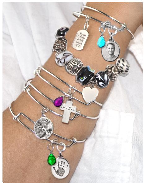 memorial jewelry bracelets and charm ideas