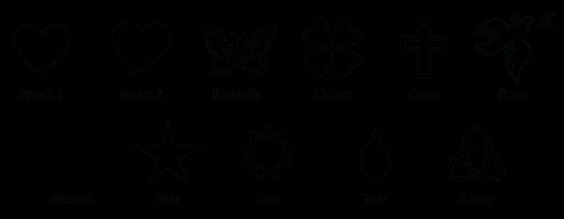 symbols clip art for engraving