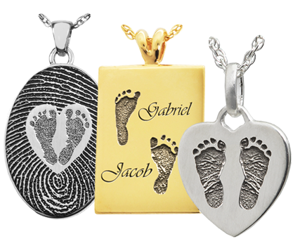 c60022b49f0e7 Baby Footprint Jewelry | Necklace | Rings | Keepsake | Memorial Gallery