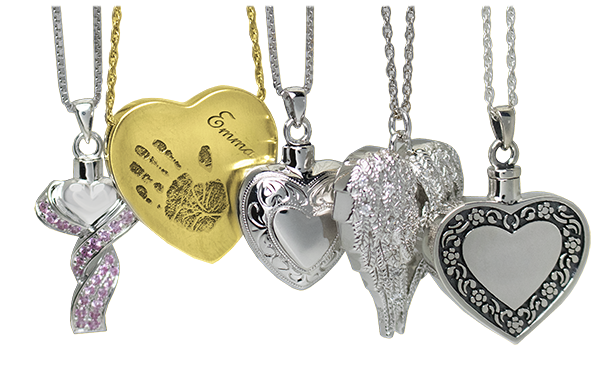 Heart Urn Necklace Cremation Jewelry Locket Ashes