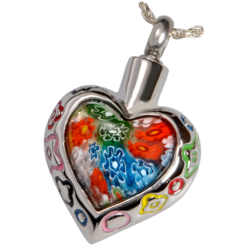 Glass cremation pendant heart urn necklace memorial gallery art glass ii urn necklace aloadofball Gallery