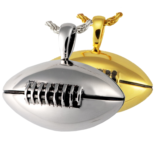 Sports necklace charms human remains jewelry memorial gallery football charm for ashes aloadofball Images